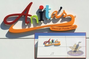 Restaurant Sign with Halo Lit Channel Letters