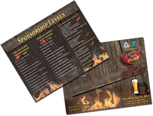 Majestic Sign Studio | Brochure Design: Fire & Ice Chili Cookoff
