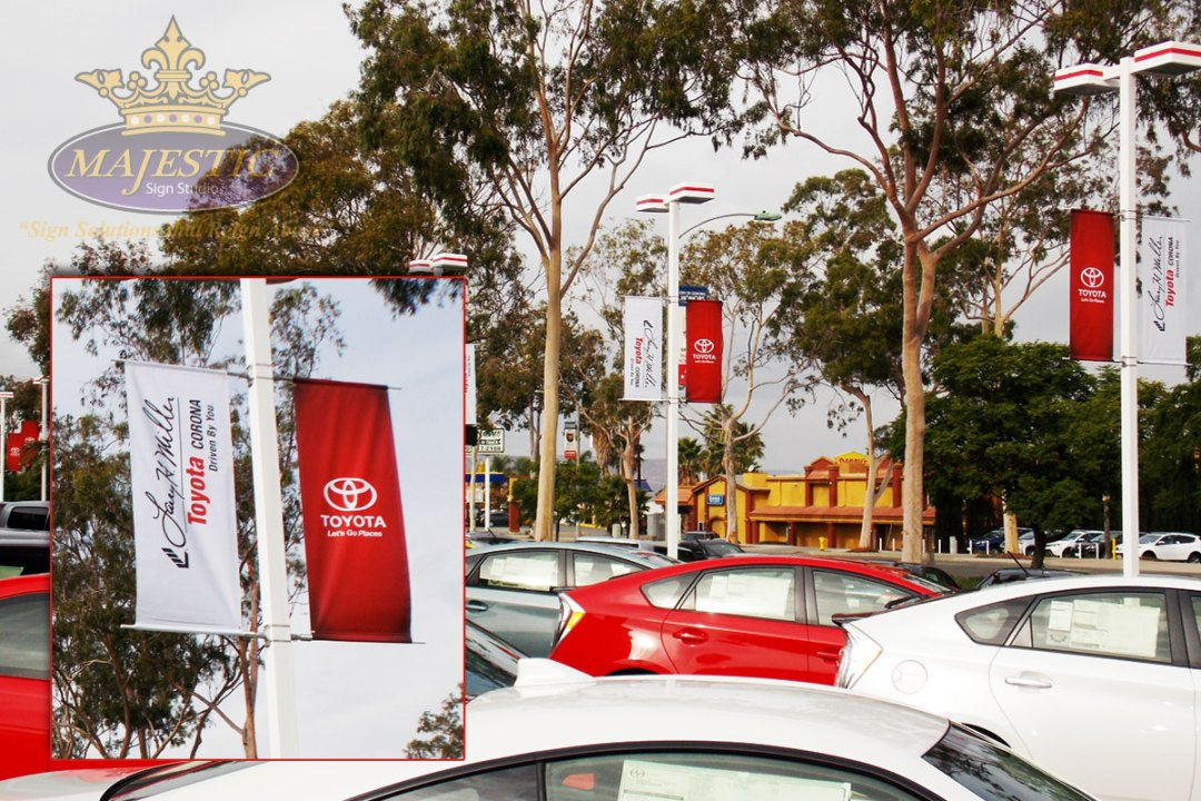 Larry H. Miller Toyota - Pole Banners