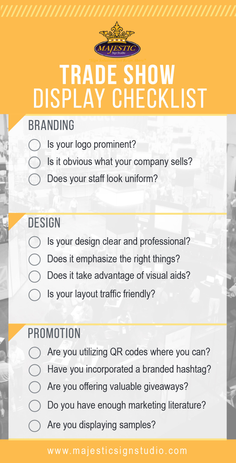 Trade Show Display Checklist