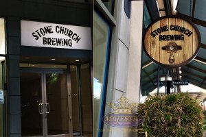 Creative Sign Design_Blade-Sign-Light-Box-Vinyl-Decal_Stone-Church-Brewing
