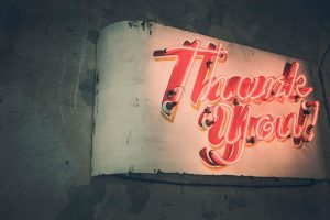 lighted sign thank you for submitting a quote