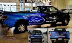 Custom Truck Wraps - Ford Dealership, Cowles
