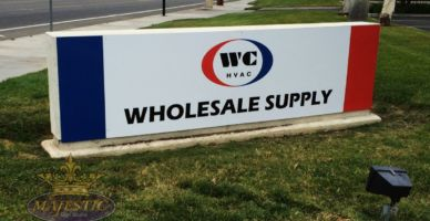 Refacing of Business Monument Sign - HVAC Supply Company
