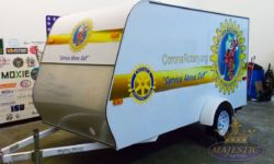 Partial Vinyl Wrap for Trailer - Corona Rotary Club