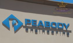 Letter Foam & Aluminum Face Building Signage for Corona Engineering Firm