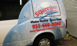 Partial Van Wrap - Window Washing & Screen Repair, Corona