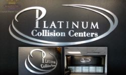 Brushed Aluminum Acrylic Sign Logo & Letters