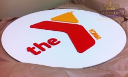 YMCA Building Sign with Painted PVC