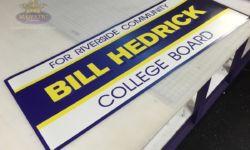 Bill Hedrick trade show signs