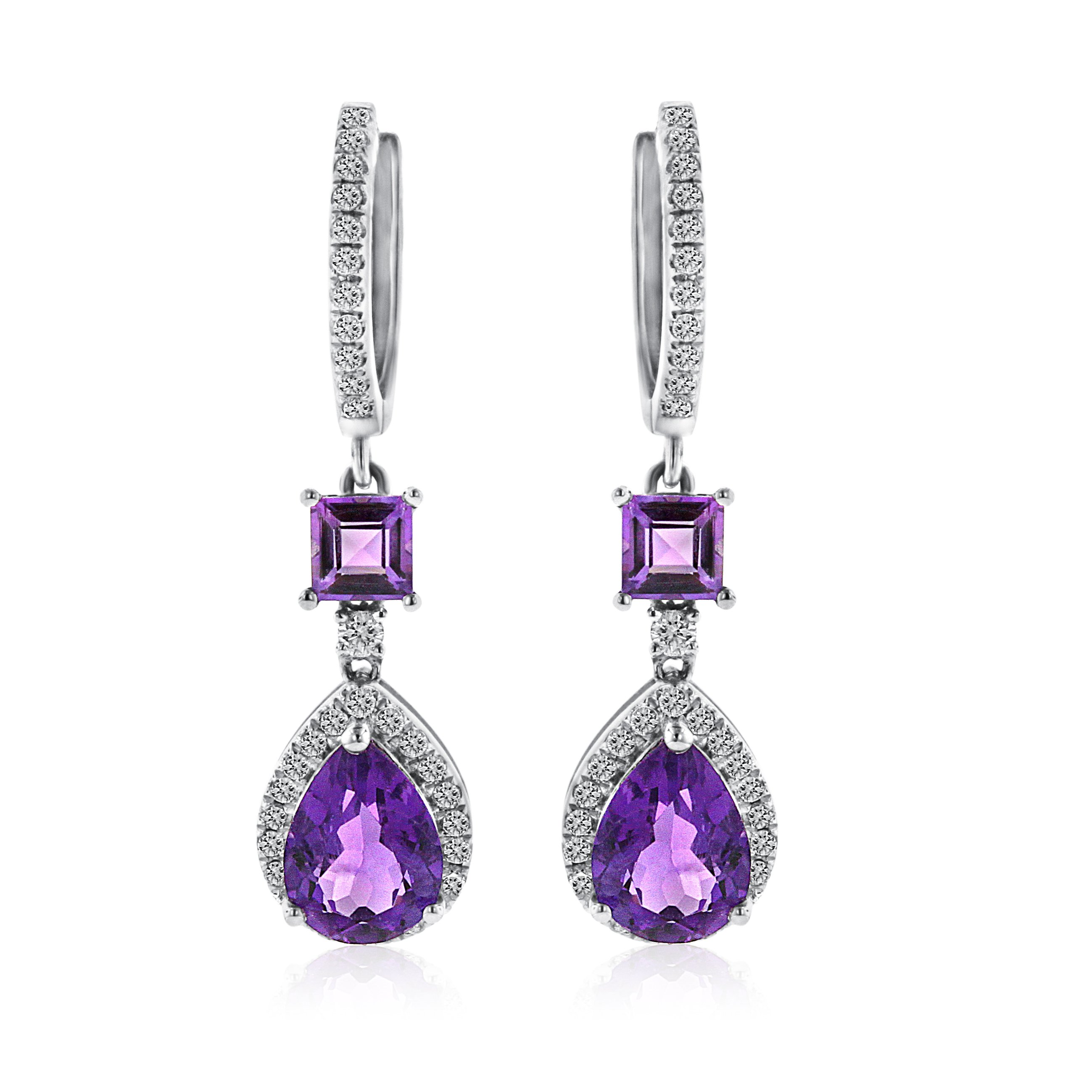 diamonds diamond greenleaf products tanzanite earring halo earrings