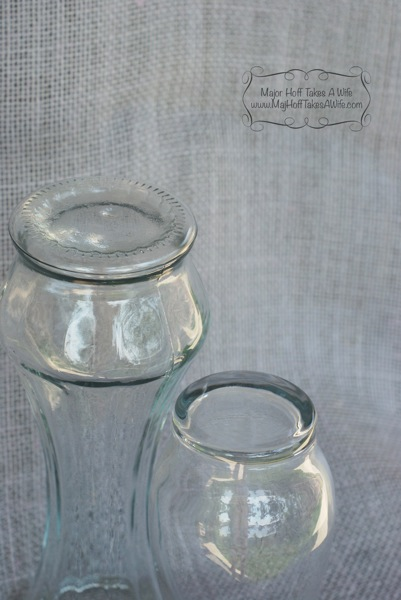 glass jars for painting no labels