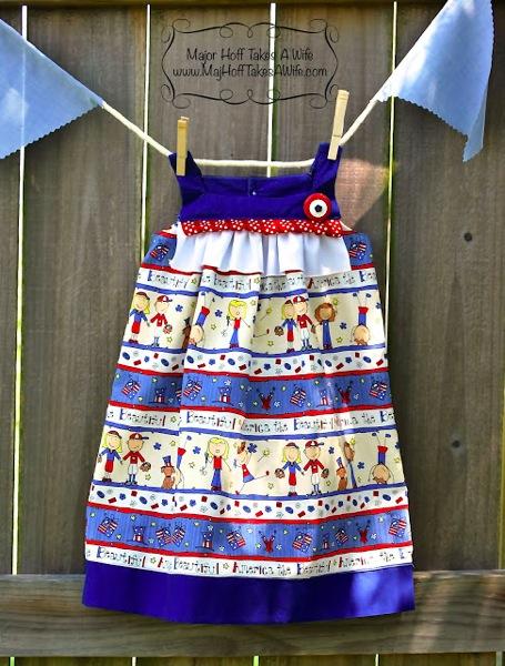 4th of july I love the USA ribbon dress