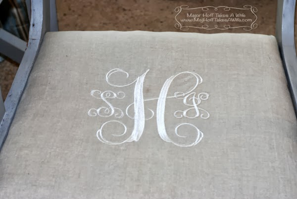 Monogram dining chair closeup