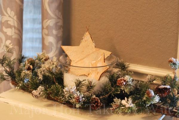 Star in Hurricane Garland surron snowy pinecones