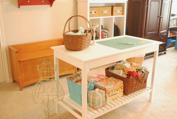 double duty cutting ironing sewing table