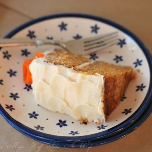 This easy carrot cake recipe will be a new family favorite. Perfect for those looking for a nut free carrot cake. Includes all the essential elements like cream cheese frosting but ditches the nuts, pineapple and coconut.