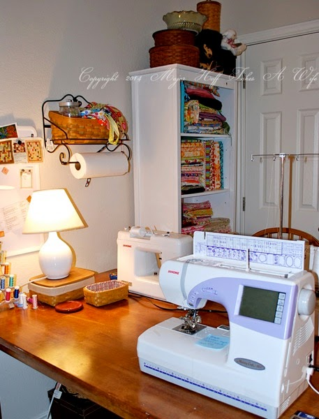 Janome 9500 in sewing room