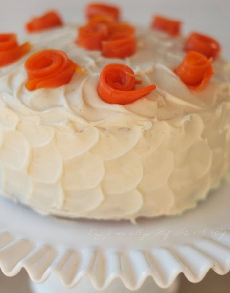 Rolled Roses from sugared carrots