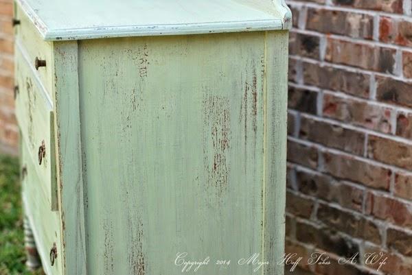 Side view of Luckett s Green dresser
