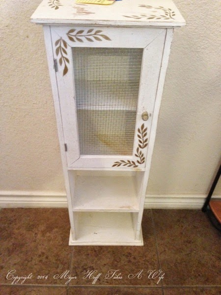 Jelly Jar Cabinet Before