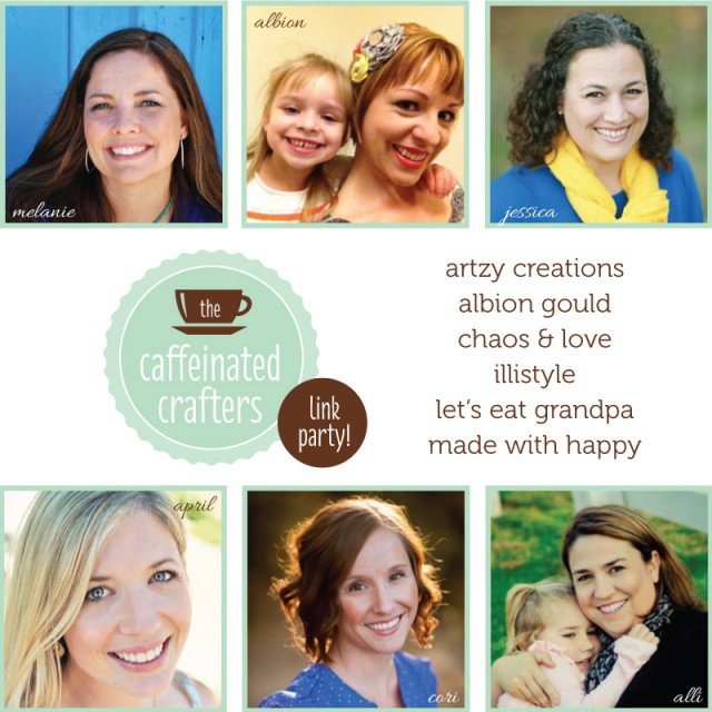 Join us every Tuesday for the Caffeinated Crafters Linky Party!