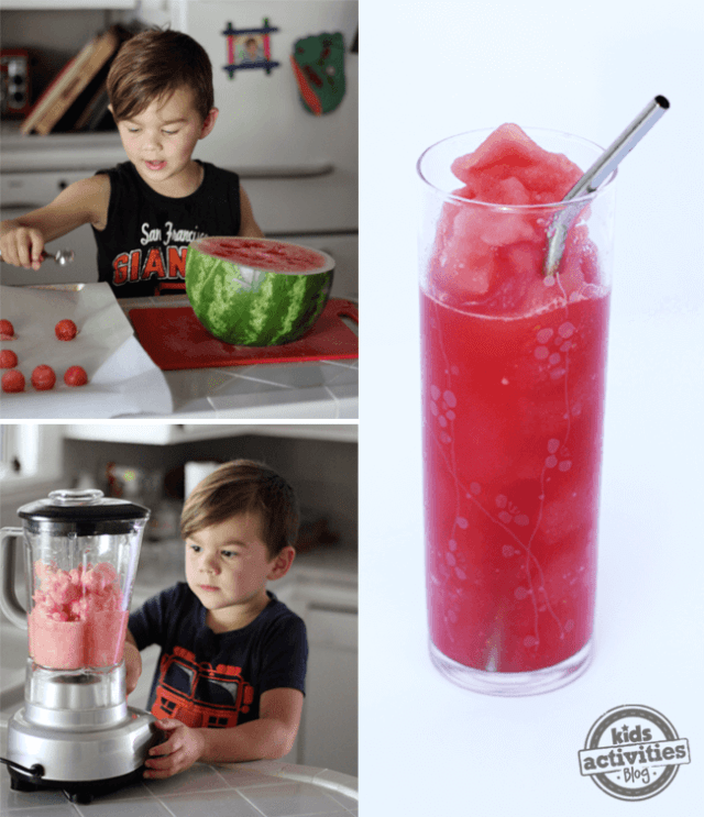 Watermelon Slushies by Kids Activities Blog