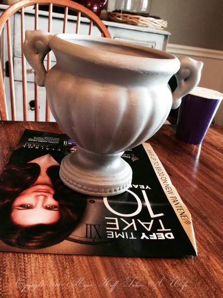 Annie Sloan on ceramic planter