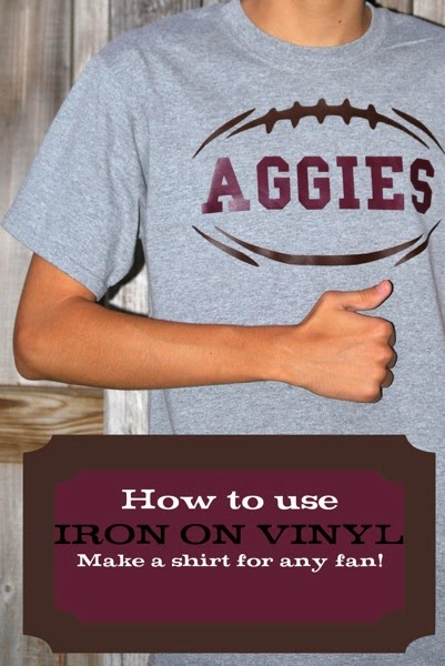 How to use iron on vinyl to make a shirt for any football fan