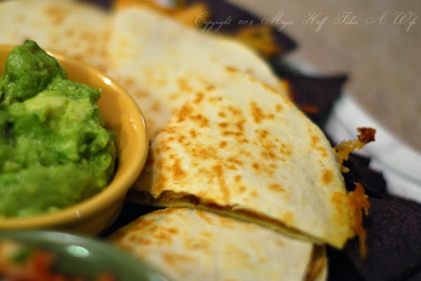 Quesidillas for a fast easy dinner