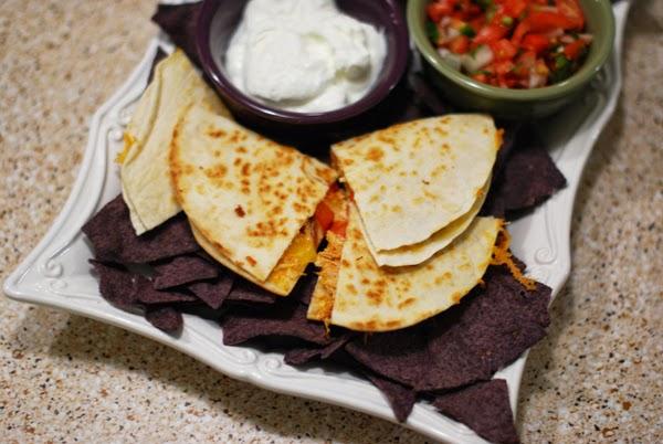 Quick week night meal Tex Mex Quesadillas