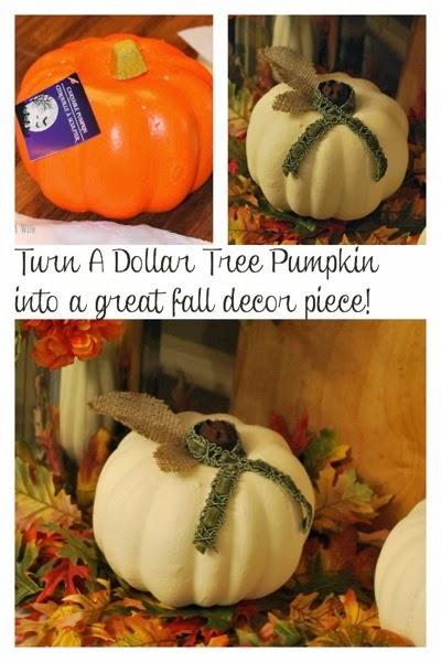 Turn a dollar tree pumpkin into a great fall decor piece