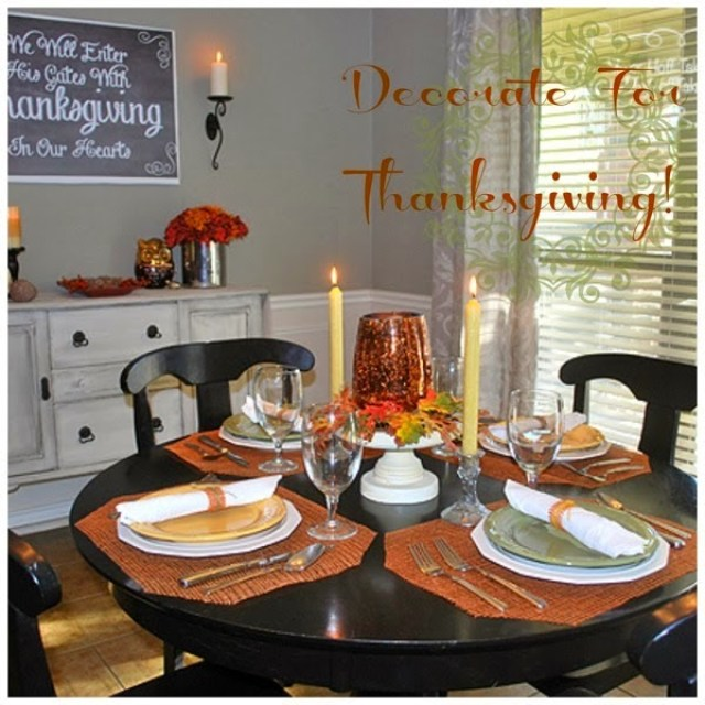 decorate for Thanksgiving, dining room style with Mrs Major Hoff