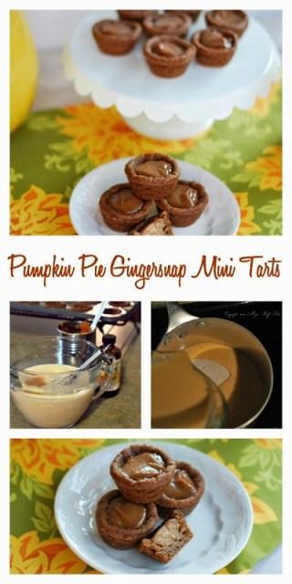 pumpkin pie gingersnap mini tarts