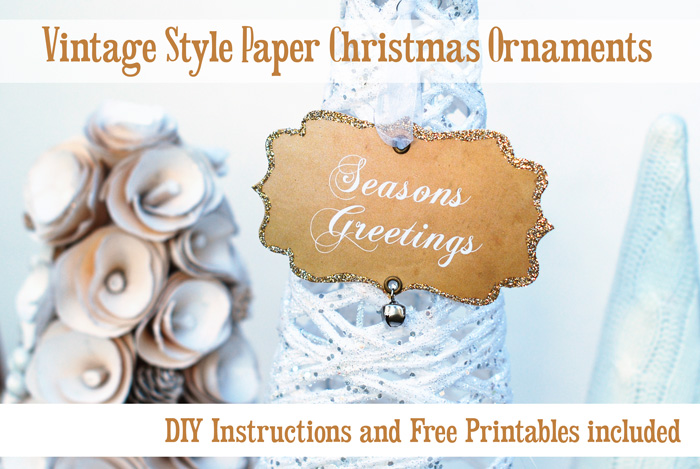 DIY Christmas ornaments Vintage style Paper Christmas Ornaments