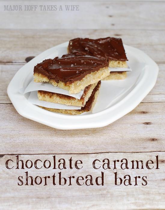 decadent chocolate caramel shortbread bars