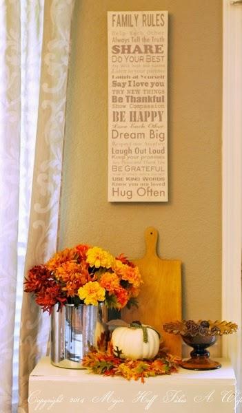 Fall vingette for dining room