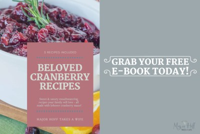 Free ebook for leftover cranberry sauce