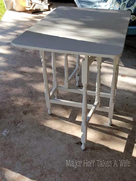 Gate leg table chalk paint white