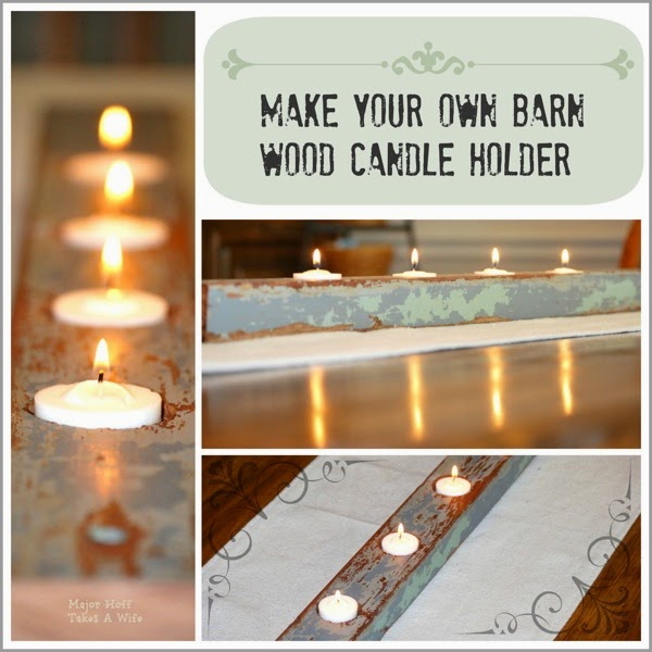 Make your own barnwood candle