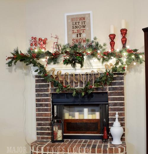Major Hoff Takes A Wife Fireplace Mantel Christmas2014
