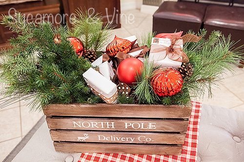 North Pole Delivery Company crate