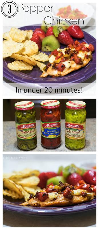 3 Pepper Chicken in under 20 minutes