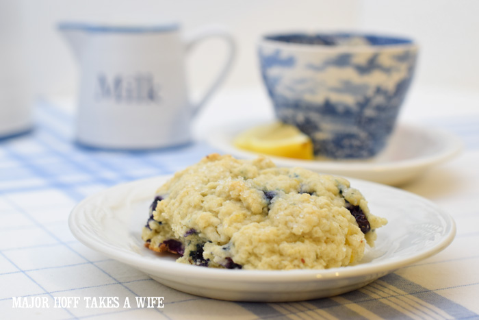 A buttery blueberry scone is the perfect serving suggestion for High Tea