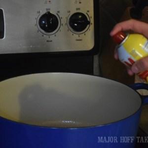 Spray Pan with non-stick spray
