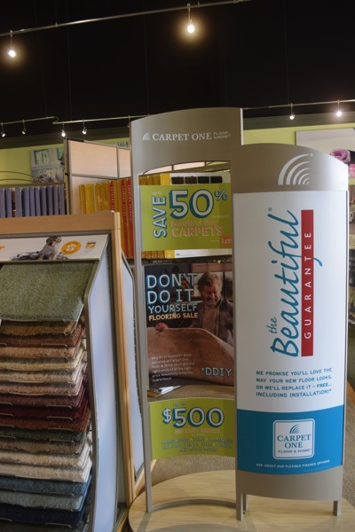 Don't Do it Yourself carpet promotion at Carpet One