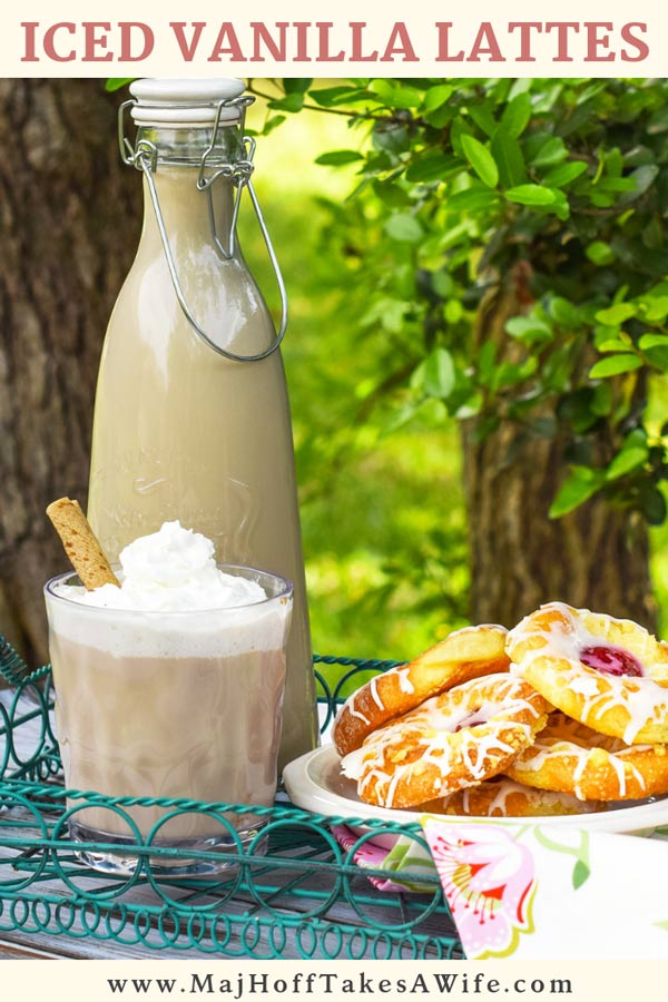 Save some time and money by making Iced Vanilla Lattes at home this summer! Have you ever wondered how to make Iced Vanilla Lattes like the fancy coffee shop serves? They are not as complicated as they seem via @mrsmajorhoff