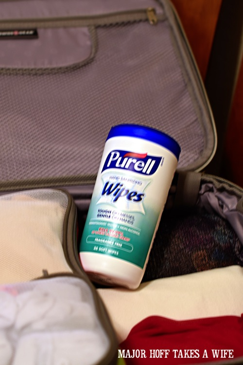 Packing Purell Wipes