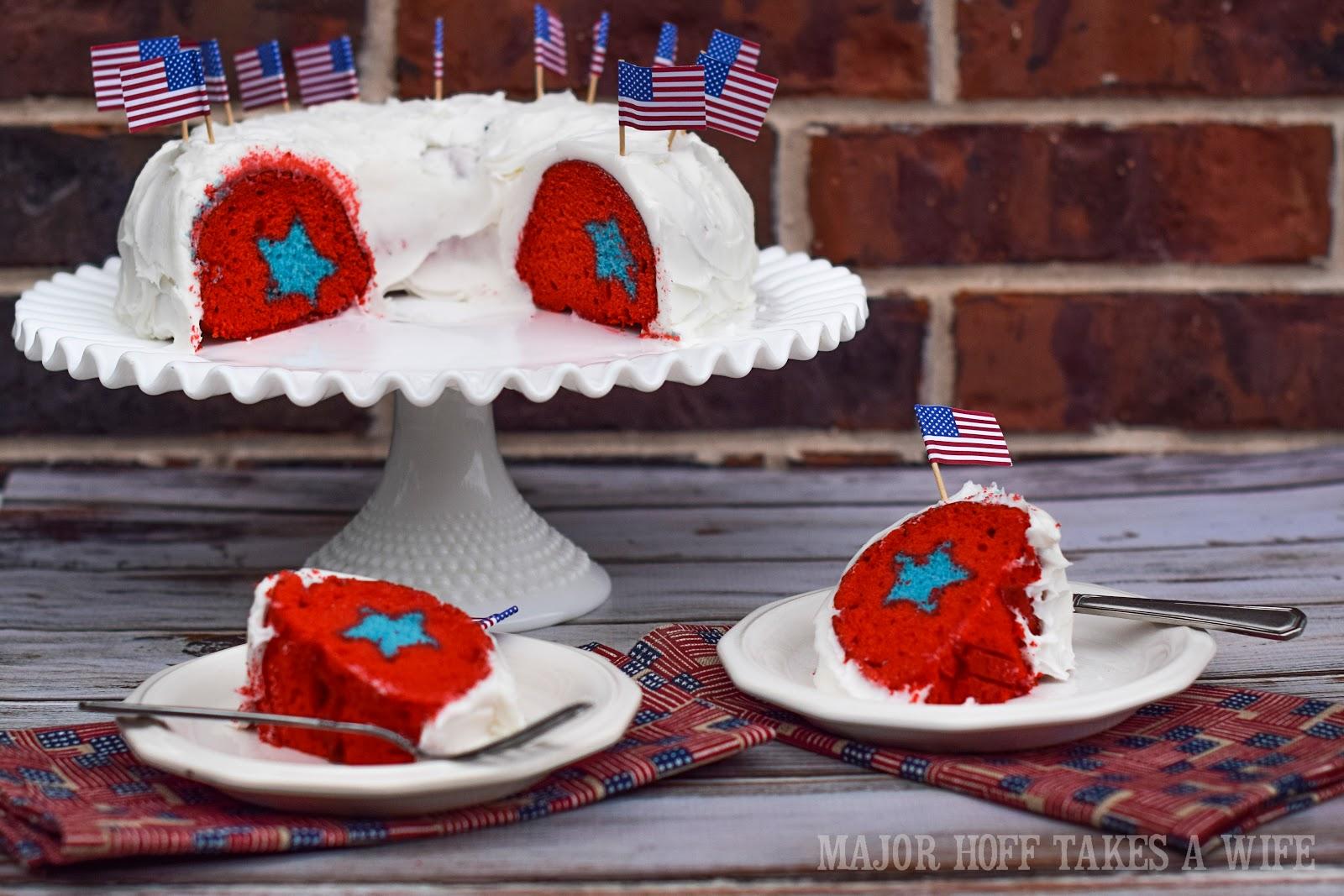 Star Surprise Patriotic Bundt Cake