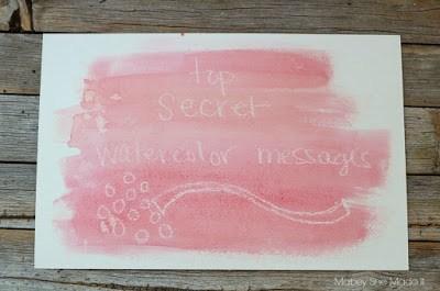 Top Secret watercolor messages.